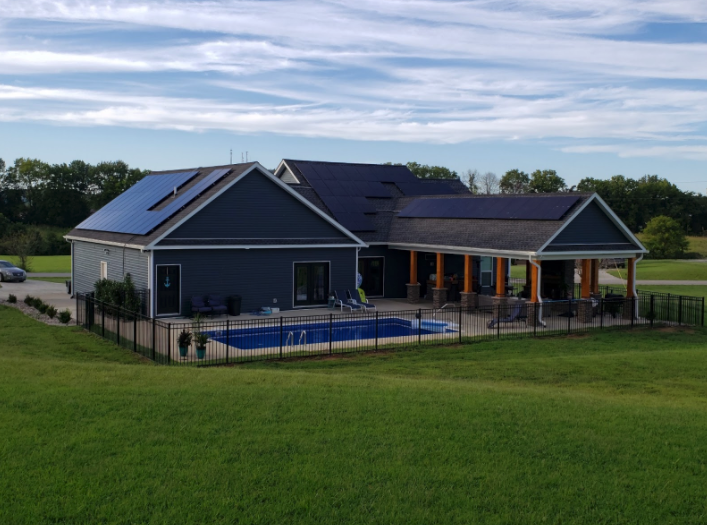 Solar Roof Install in Cave City, KY